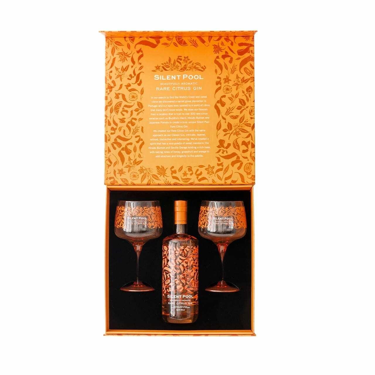 Silent Pool Rare Citrus Gin and Copa Gift Box